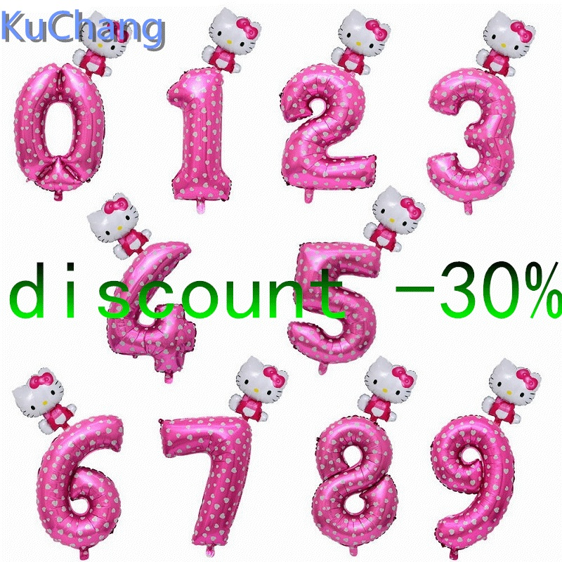 e3e0d4912 32inch pink blue number foil balloons hello Kitty balloon figure 0-9 years  kid baby shower supplies Birthday Party decoration - aliexpress.com -  imall.com