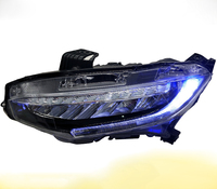Newest 2015 2016 all LED headlight assembly for honda civic 2015 2016 with flowing drl and led light for high low beam
