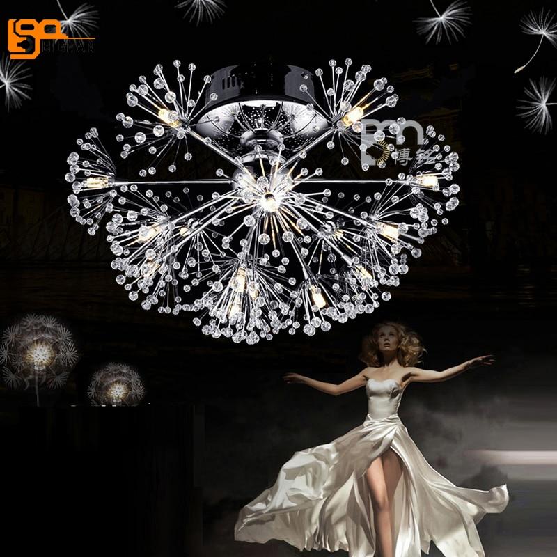 new brief style crystal ceiling lamp modern LED ceiling light fixtures lustre bedroom lamp hallway lights