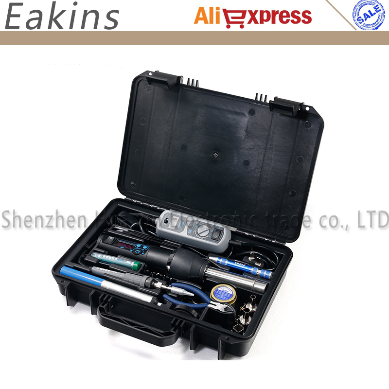 YIHUA 27 in 1 Portable Digital BGA Rework Solder Station Hot Air Electric soldering iron Electronic Welding Repair tools set original quality goods 50w atten at936b soldering station solder iron at 936b welding station for bga welding accessory