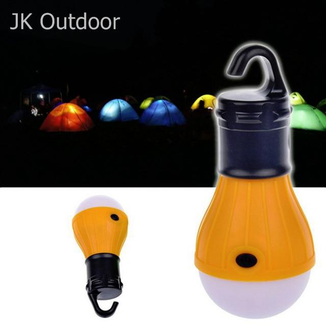 Soft Light Bulb Hanging LED Camping Tent Lighting Camp Fishing Lanterns Travel Lantern Outdoor Mini lights Portable Lamp Battery