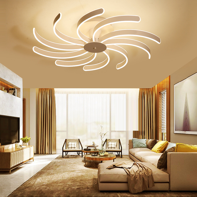 LED Creative Home Warm Personality Living Room Lamp Post LED Minimalist  Modern Master Bedroom Ceiling Lamps