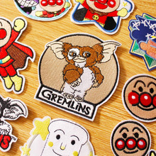 Cartoon/Gremlins Patch Iron On Patches Clothes Stripe DIY Hook Loop Embroidered For Clothing Sew Accessories