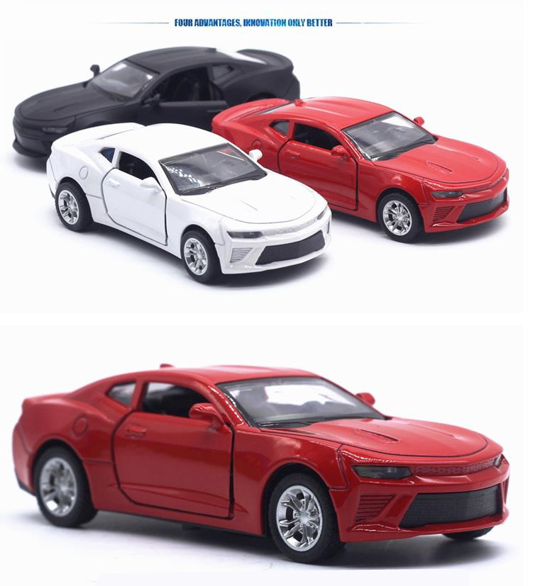 Sale 1:32 Alloy Car Models,simulation Chevrolet Camaro,toy Vehicles,metal Diecasts,pull Back & Flashing & Musical,free Shipping