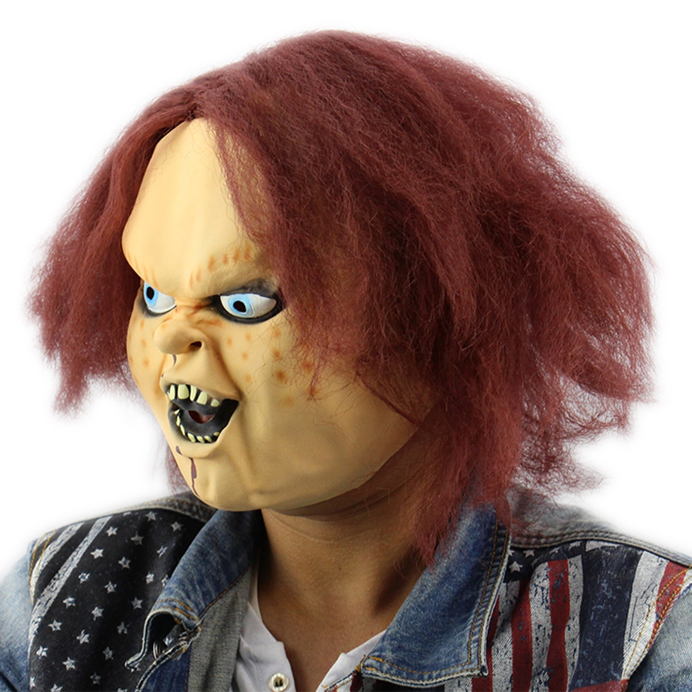 Aliexpress.com : Buy Cosplay Curly Breathable Horror Latex Mask ...