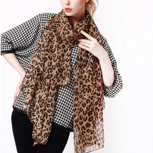 1PC Sexy Women Long Chiffon Scarves Leopard Print Shawl Scar