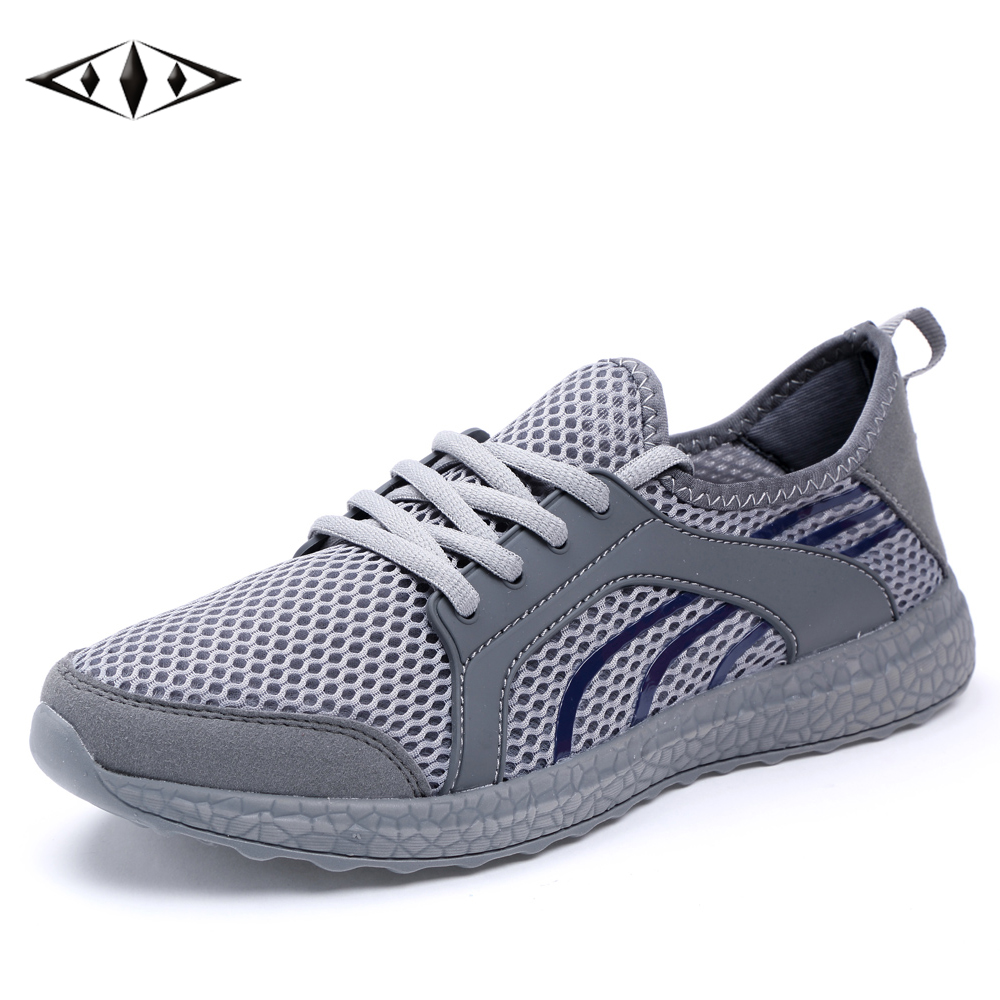 LEMAI Leisure Men Sneakers Autumn Spring Breathable Air Mesh Boy Running shoes For Men Outdoor Sport Gray Grey Trainers f022-G