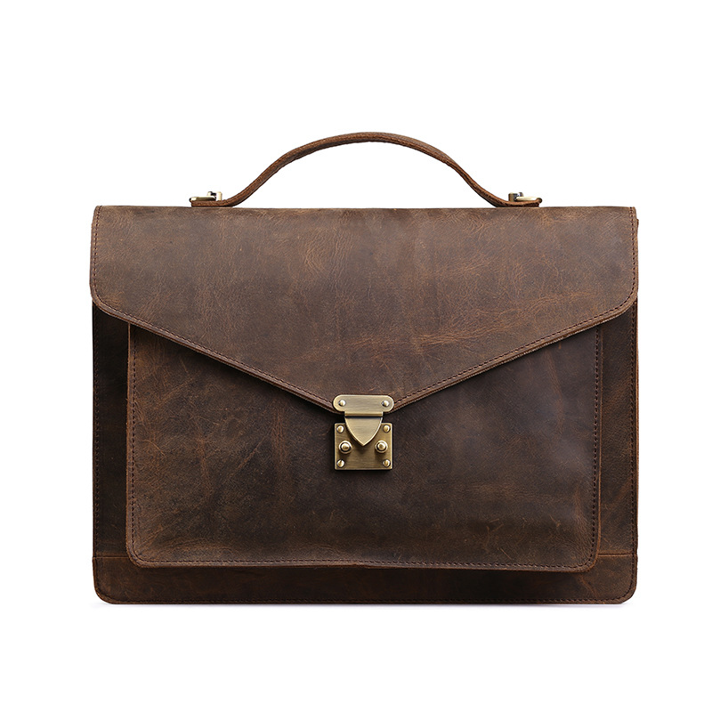 Genuine Leather Man Bags Maletin Cuero Business Men Briefcase Handbags Cowhide Leather Laptop Bag Male Shoulder Bag Bolso Hombre
