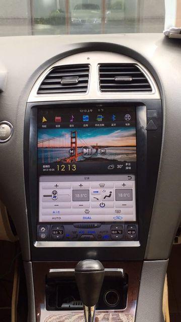 12.1u0027u0027 Vertical Tesla Style Android 7.1 Car DVD GPS Navigation For Lexus ES  ES240