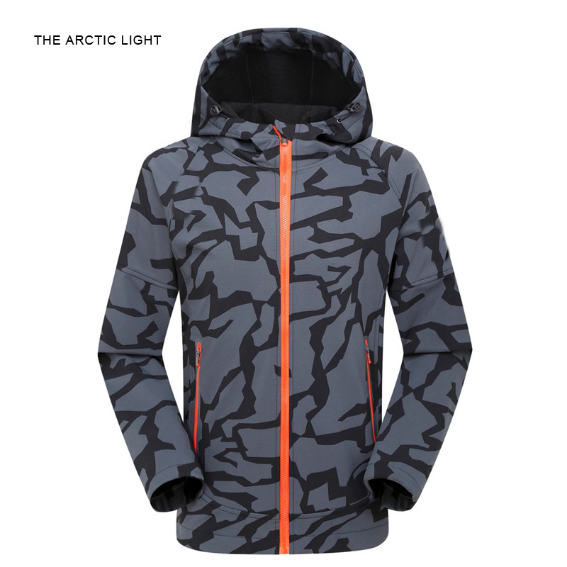 THE ARCTIC LIGHT THE ARCTIC LIGHT Men Hiking Camping Jacket Mountaineering Waterproof Windproof Softshell Coat the arctic incident