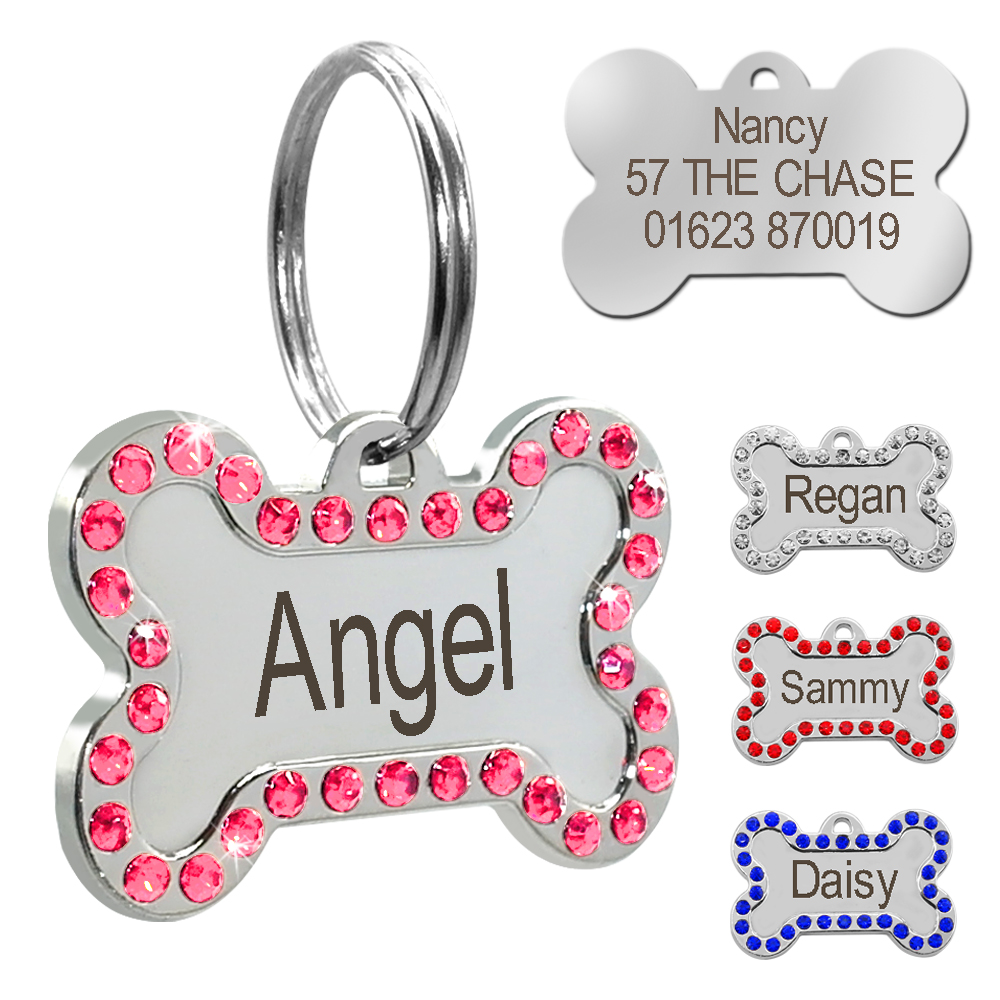 Collars, Harnesses & Leashes Dogs New Arrivals Free Engraving Multicolour Dog ID Tags  My Pet World Store