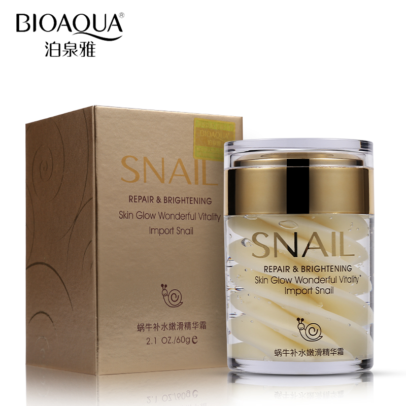 цена на BIOAQUA Brand Snail Face Cream Collagen Essence Facial Skin Care Moisturizer Ageless Anti Winkles Whitening Day and Night Creams