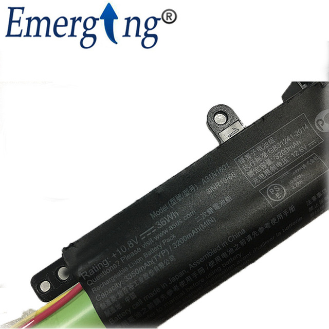 New Original 10.8v 36Wh Laptop Battery A31N1601 for ASUS F541UA R541UA R541UJ R541UV X541SA X541SC X541U X541UA X541UVSeries