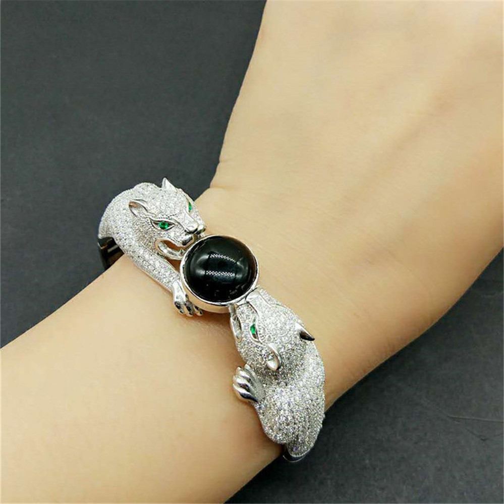 gold white image amp bangle panther bangles jewellery black bracelet diamond style