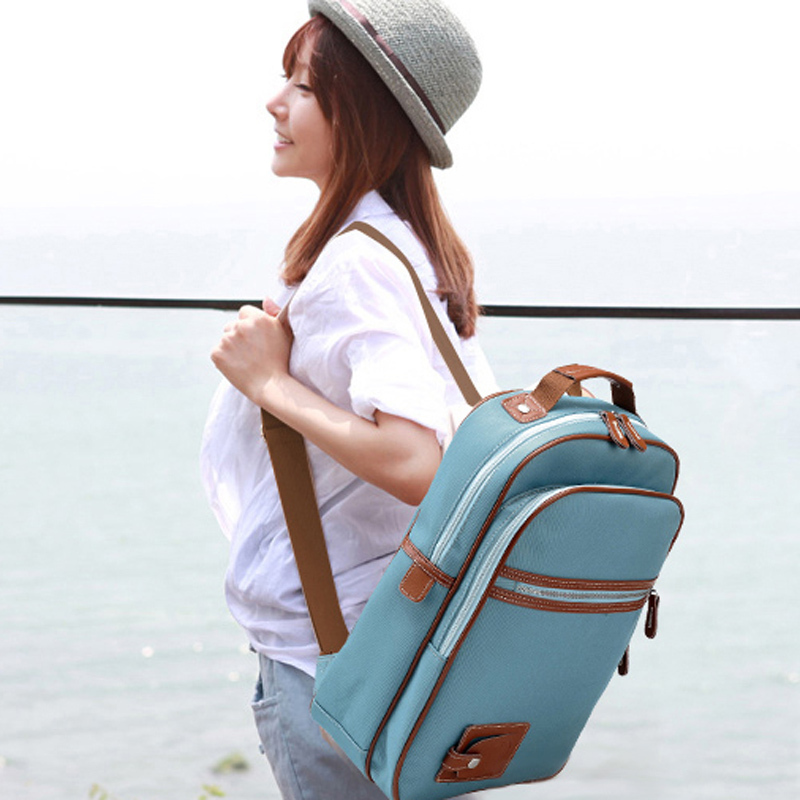 Korean bag backpack school bag 14 laptop bag female lovers ...
