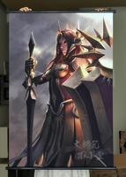 League Of Legends LOL Leona HD Game Scrolls Poster Bar Cafes Home Decoration Banners Hanging