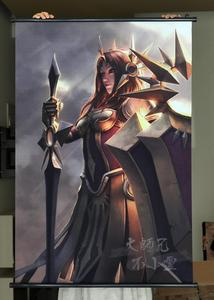 HD игровой прокрутки League of Legends LOL: Leona, Постер для кафе, украшения дома, баннеры, водостойкая ткань, декоративные