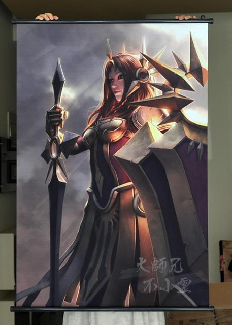League Of Legends Lol Leona Zwoje Gier Hd Plakat Bar Kawiarnie