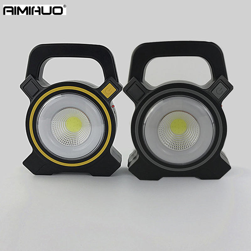 AIMIHUO LED Flashlight Waterproof Camping Lamp Portable Lantern Mini Tent USB rechargeable Light Emergency Lamp Torch Light