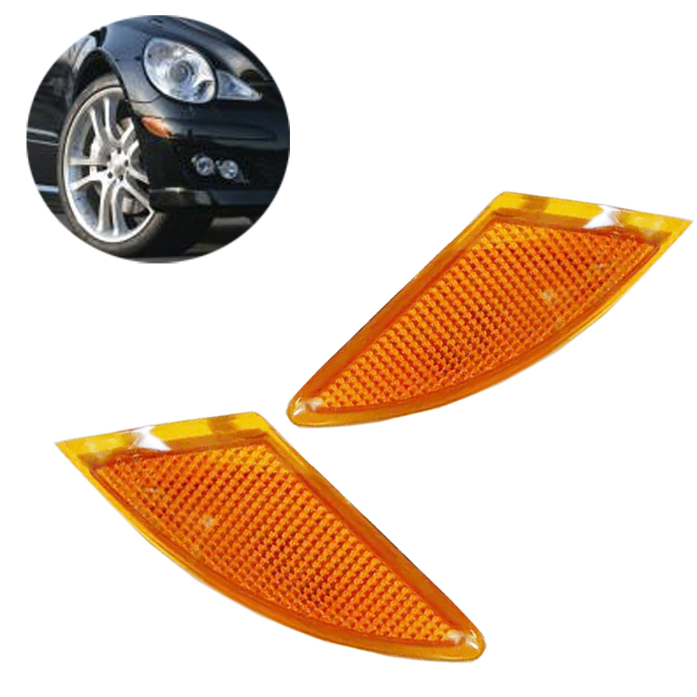 2518200121 2518200221 Yellow Pair Left Right Bumper Turn Signal Light Lamp Fit for Mercedes Benz R Class R320 R350 R500 R63 AMG door mirror turn signal light for mercedes benz w163 ml270 ml230 ml320 ml400 ml350 ml500 ml430 ml55