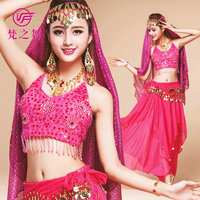 Indian Belly Dance 4pcs 6colors Arabic Clothes Plus Size Bollywood Belly Dance Costume Set Women Bellydance