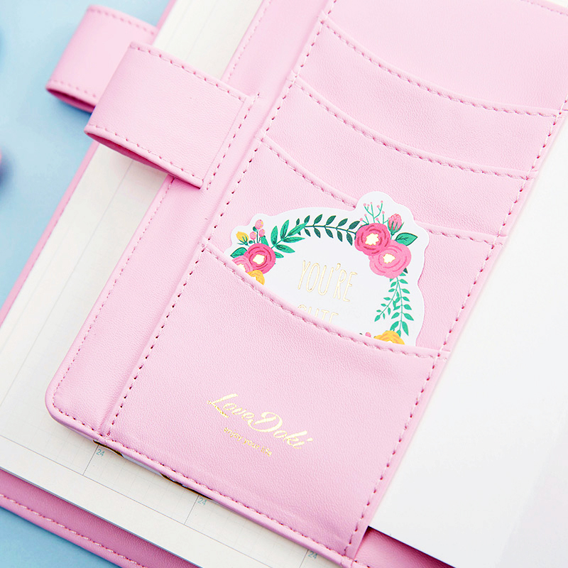 Lovedoki roztomilý kožený obal notebook A5A6 Planner Osobní - Bloky a záznamní knihy - Fotografie 5