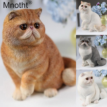 Mnotht 1/6 Garfield Carved Model Lifelike Cute Cat Pet Model Simulation animal Model For 12in Action Figure Soldier Scene Toy