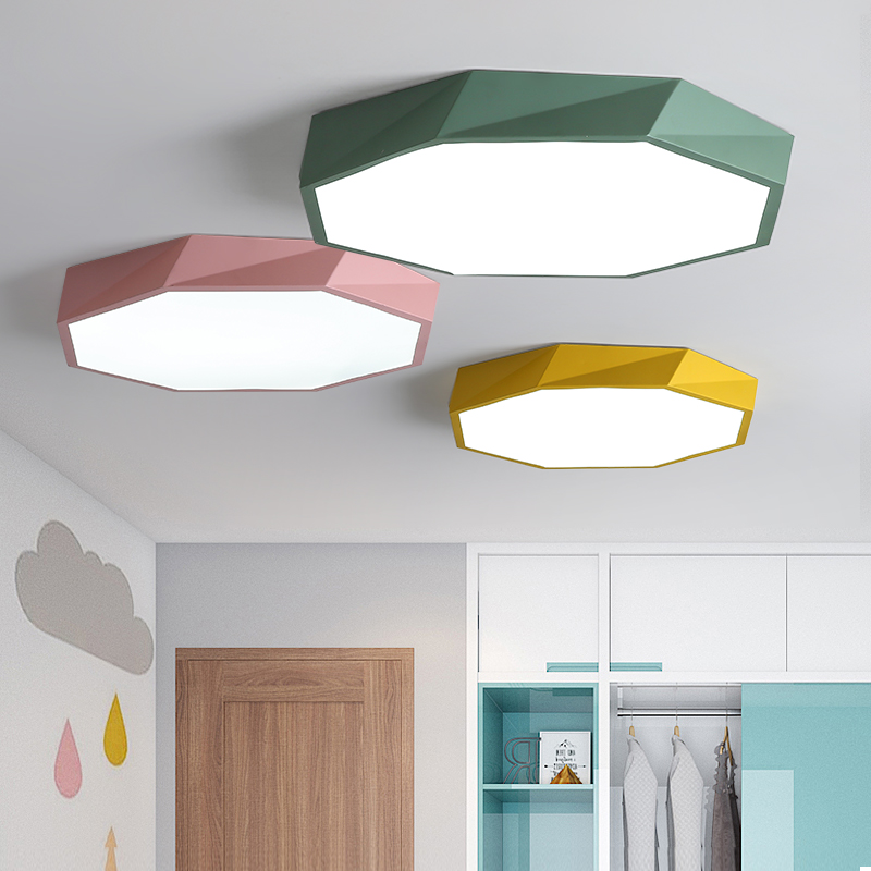 Image 4 - Macaron color Ceiling LED chandelier Round Ultra thin chandelier lighting for bed Childrens room LEDlamp lamparas de techo-in Chandeliers from Lights & Lighting