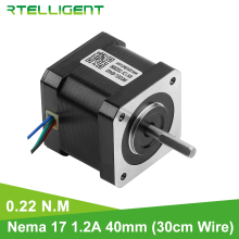 цена на Rtelligent 22N cm(31.5oz.in) 3D printer motor 4 lead Nema 17 stepper motor 42 motor 40mm 1.2A step motor for CNC Mechanic Motor