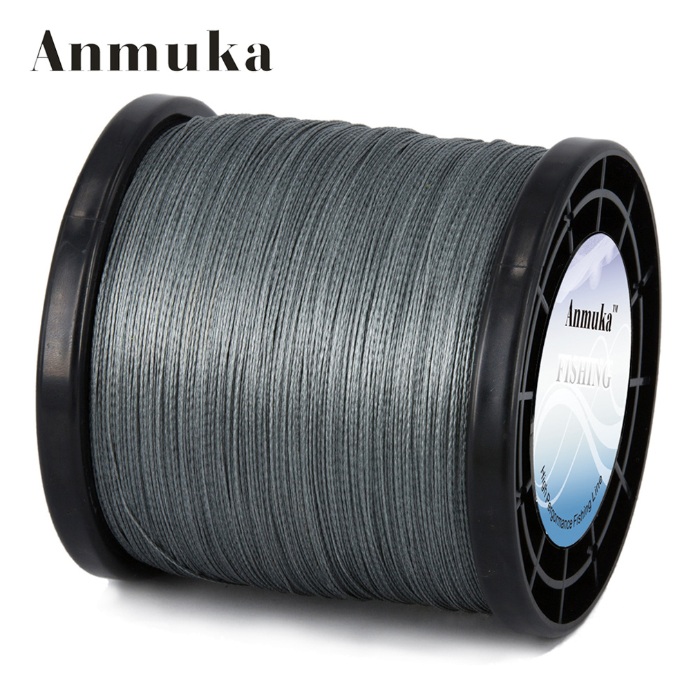 цена Anmuka 2000m 4 Strands Braid Line Green Gray Yellow PE Multifilament Saltwater Fishing Super Strong Carp Braided Fishing Line