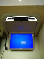 Dv12v 12.1 inch потолок флип Подпушка ЖК Авто Моторизованный Крыши монитор шины с ИК HDMI Вход/SD/ USB Порты и разъёмы fm автобус dvd плеер