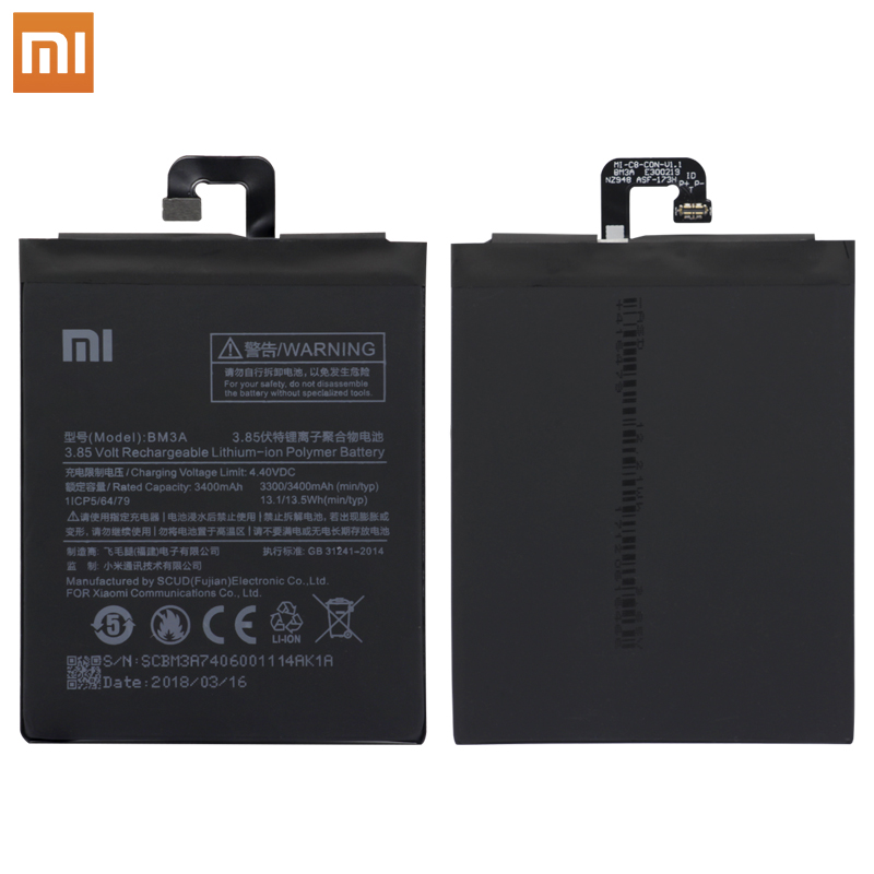 Xiao Mi Original BM3A Replacement Phone Battery High Capacity 3300mAh For Xiaomi Redmi 4A Hongmi 4A Retail Package Tools in Mobile Phone Batteries from Cellphones Telecommunications