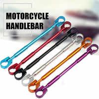 Franchise Auto accessoires nouveau moto rcycle guidon 7/8 noir barres pour Bobber Cruiser café Racer vélo guidon moto #0529