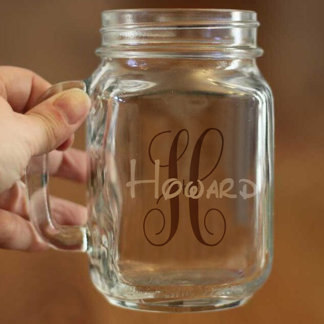 Free Shipping Modern Style Marson Jar Cups Water Juice and Beverage