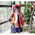 Crianças de Pele De Coelho Verdadeiro Casaco Crianças Outono Inverno Quente Curto seção Casaco De Pele Roupas Jaqueta Casaco Crianças Meninas Sólidos Quente C #1