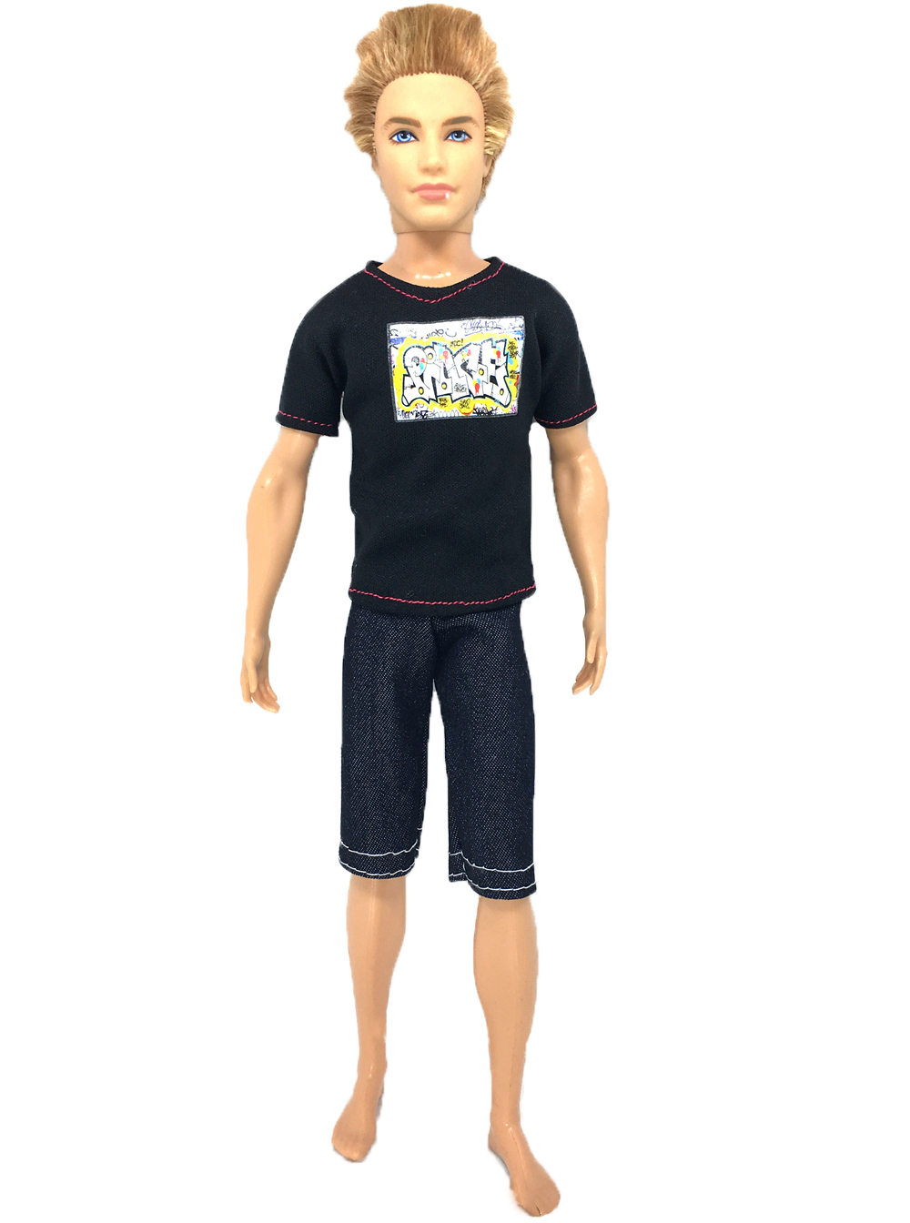 e4c30d473383a NK Bir Set Prens Bebek Rahat El Yapımı Elbise Ceket Pantolon Kıyafetler  için barbie bebek ken için barbie çocuk firend 022B
