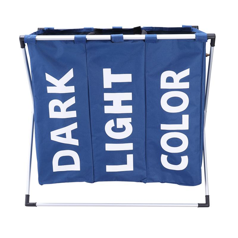 Wasserij Opslag Organisatie Mand Opvouwbare Wasmand Badkamer Waszak Product Triple Compartiment-in Waszakken en -manden van Huis & Tuin op  Groep 1
