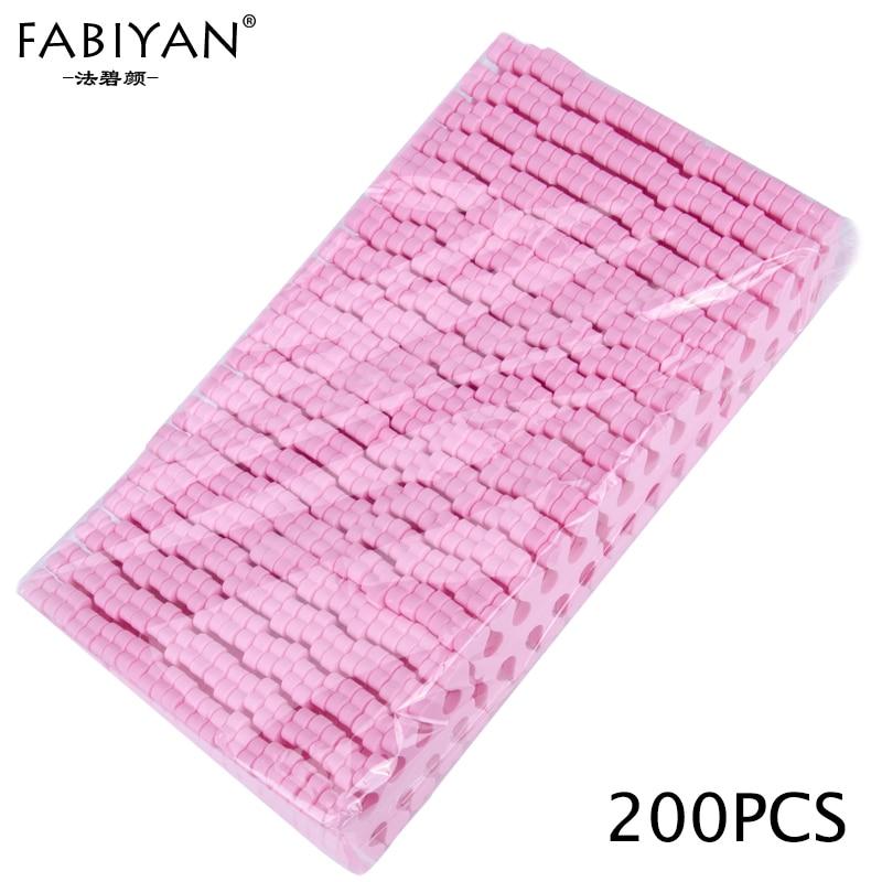 200pcs rosa Nail Art 100 Pairs Toe Separadores de Dedos Foots Esponja Macia Ferramentas de Beleza Gel UV Polish Manicure Pedicure pack