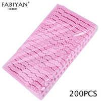 Rosa 200 piezas decoración de uñas 100 pares separadores de dedos pies esponja Gel suave UV herramientas de belleza esmalte manicura pedicura paquete