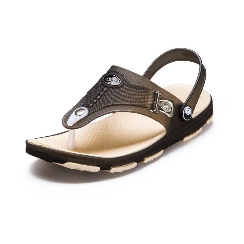 Летние Для мужчин сад сабо тапочки Повседневное модные Нескользящие сандалии для Для мужчин, для мужчин S слегка Тапочки мул Сабо плюс Разме...