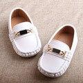 2016 crianças sapatos de couro sapatos único couro genuíno sapatos casuais 1-3 anos de idade do bebê das meninas dos meninos da criança Mocassins