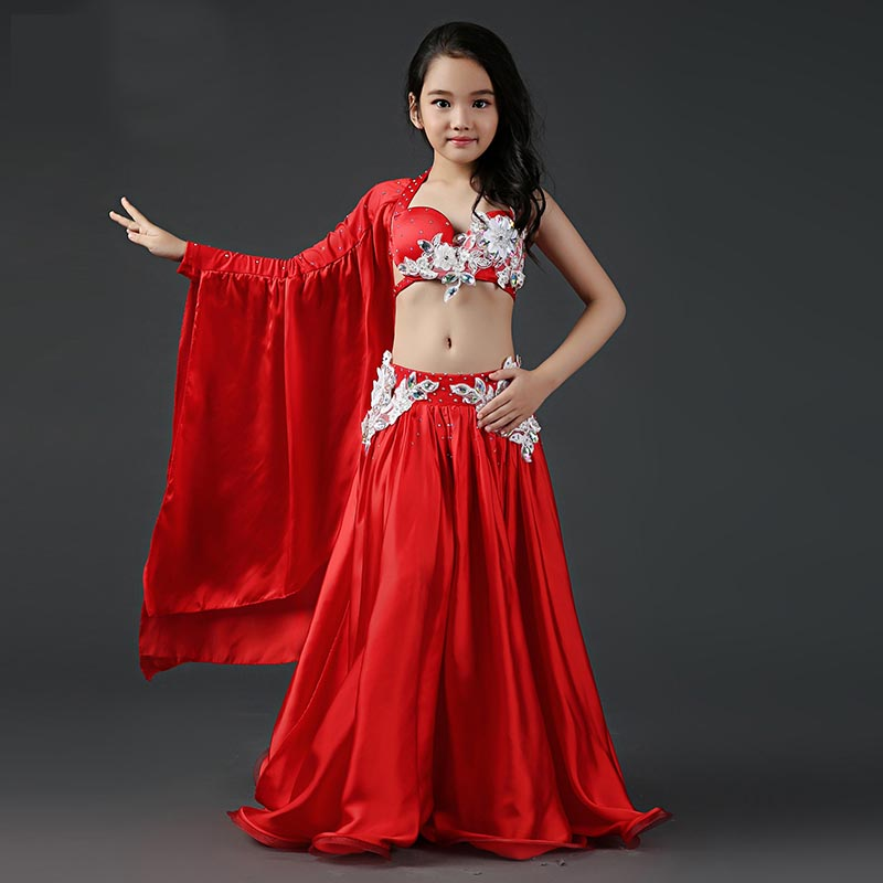 2be069c9a New Fashion Ruffle long Short Sleeve Belly dance Skirt 2pcs set for ...