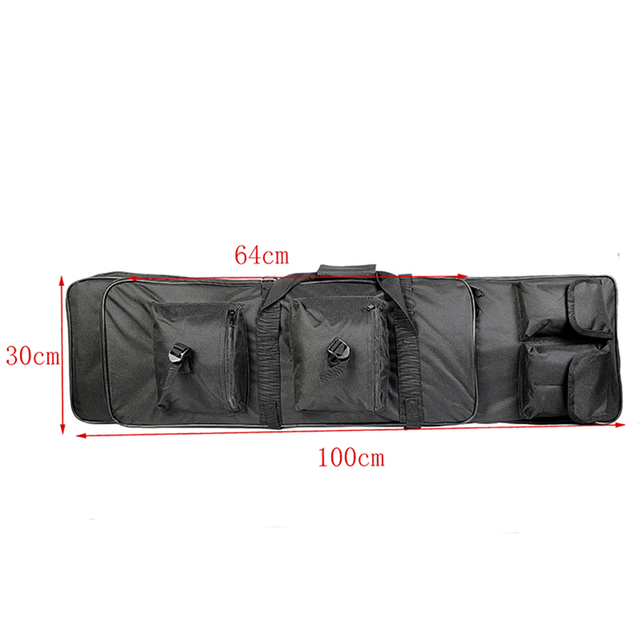 85 100 120cm Tactical Dual Rifle Carry Bag with Shoulder Strap Waterproof Military Airsoft Gun Case Pouch Protection Hunting Bag 4