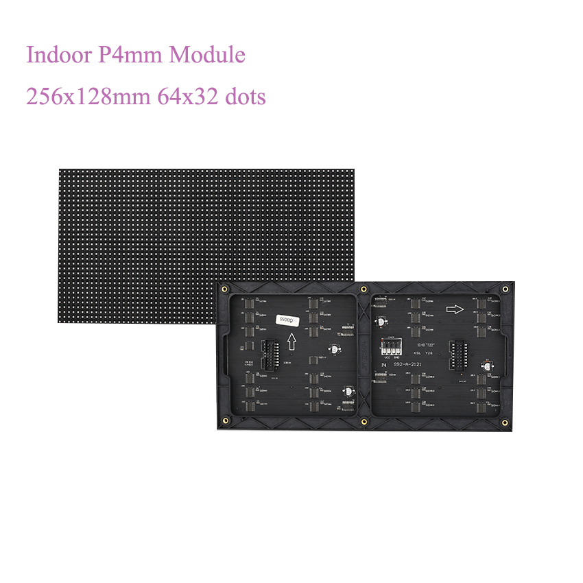 SMD Full Color P4mm 256x128mm Module 4mm Pixel Pitch 64*32 Indoor Usage Led Display Screen Module Led Billboard For Meeting Room