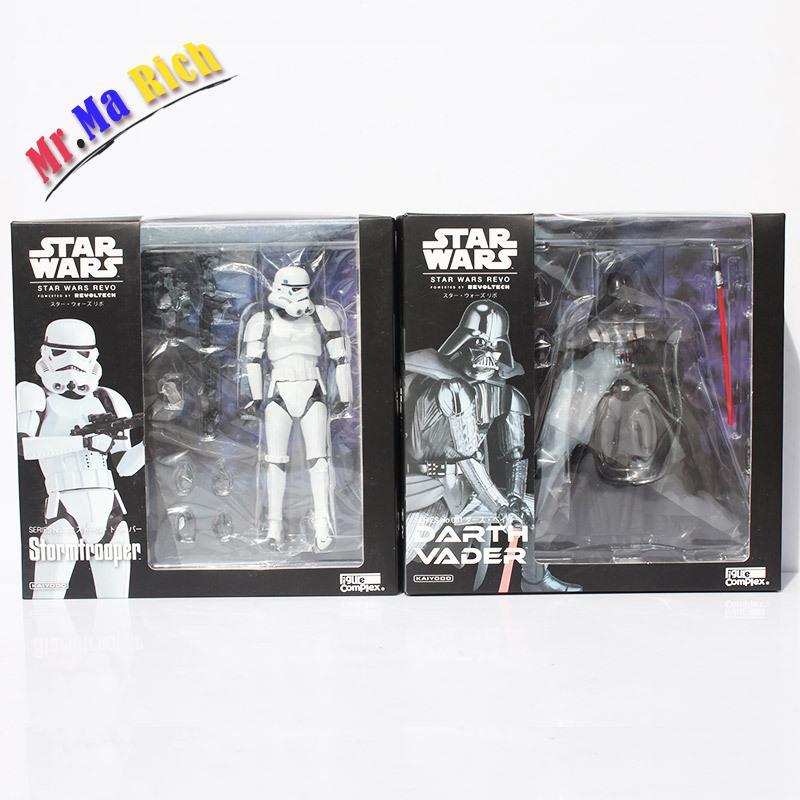 2 pcs/lot 18 cm Star Wars Darth Vader Stormtrooper Pvc Figurines Collection Modèle Star Wars Jouet