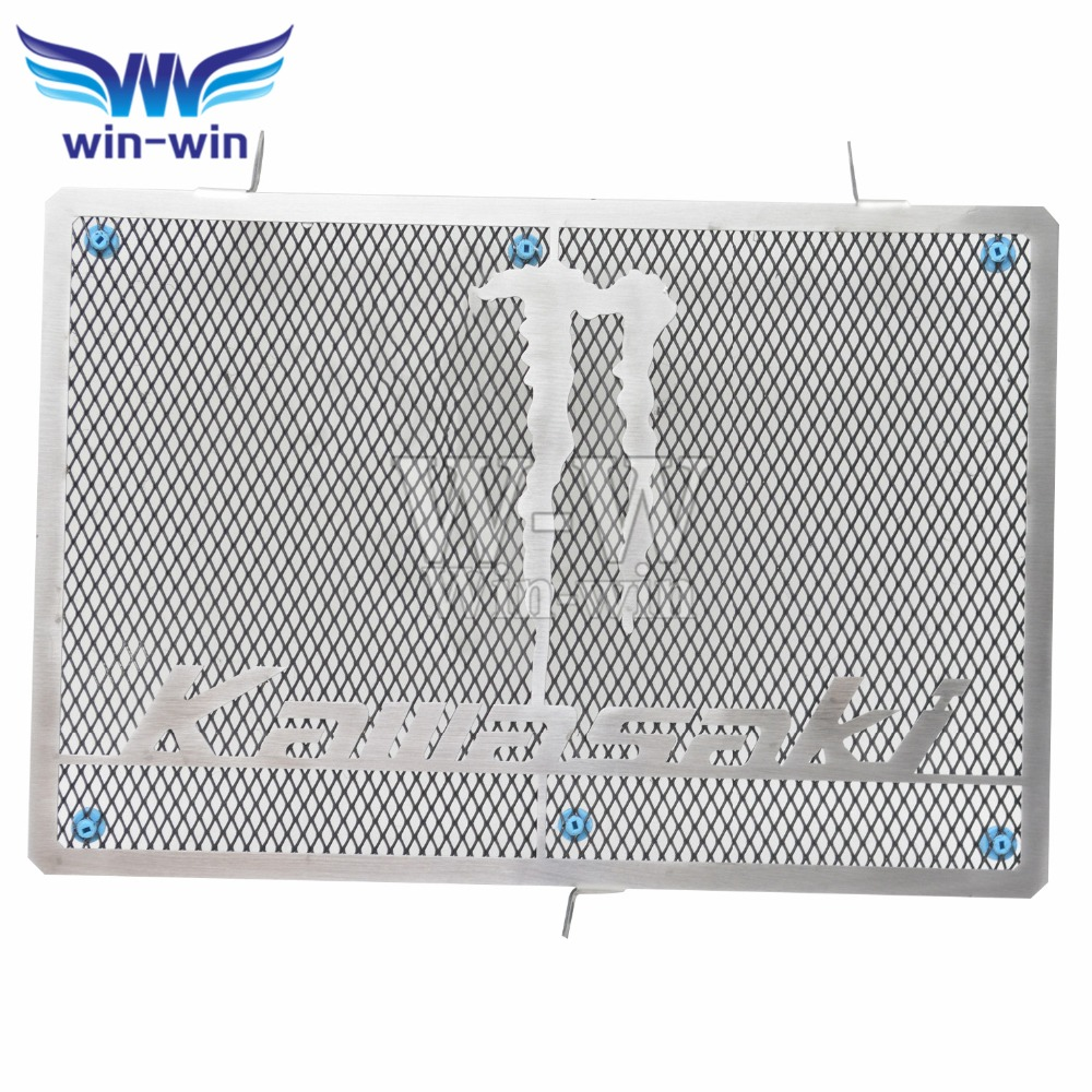 Motorcycle accessories stainless steel radiator guard protector grille grill cover for KAWASAKI Z800 2003 - 2006 z750 2007-2008 motorcycle parts radiator grille protective cover grill guard protector for 2006 2007 2008 2009 2010 2011 kawasaki ninja zx14