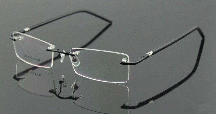 sans monture de lunettes cadre homme femmes lunettes noires lunettes lunettes de vue rx 1290