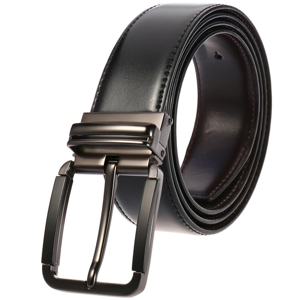 Men s Belt Cow Leather Belt Men Male Genuine Leather Strap Luxury Pin Buckle Casual Men