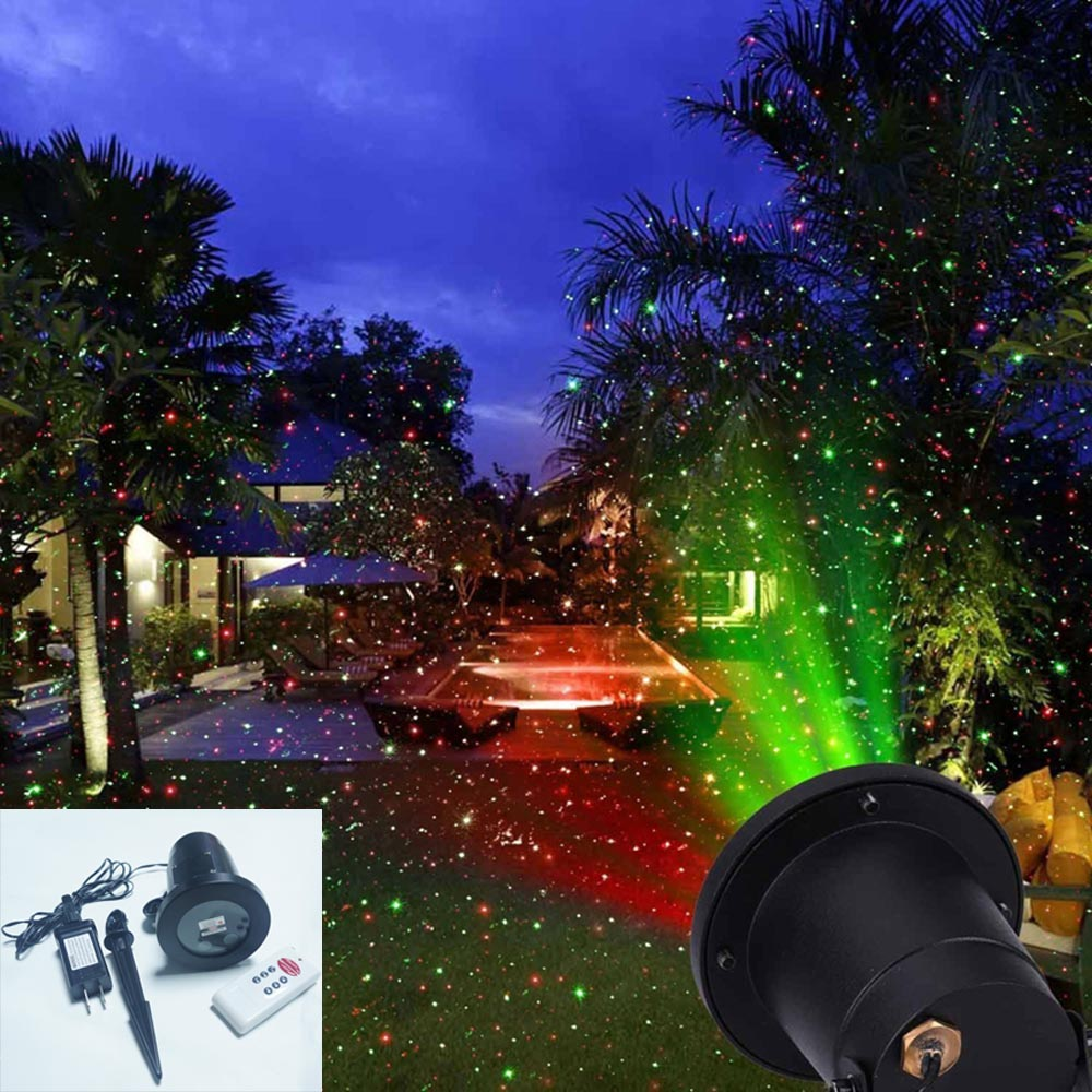 red green spotlight ip65 waterproof christmas lights red green outdoor christmas laser lights projector decorations home garden in stage lighting effect