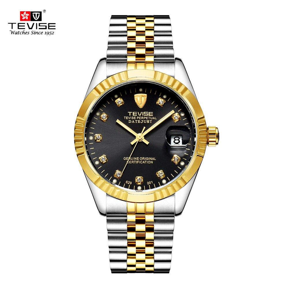 TEVISE Mens Watch Fashion Luxury Wristwatch Waterproof Semi-automatic Mechanical Watch Luminous Sport Casual relogio Watch